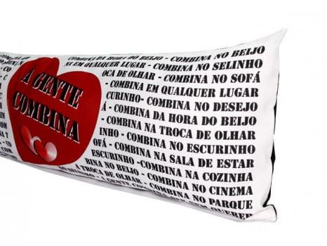 Almofada de Metro Personalizada Namorados a gente Combina