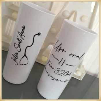 Kit chinelo + copo - Kit para formatura - Formatura - Brinde para Formatura - Baile de formatura - Copo personalizada - Chinelo personalizado